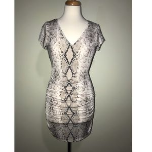 San Souci Snakeskin Bodycon Dress